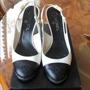 Chanel slingback pumps